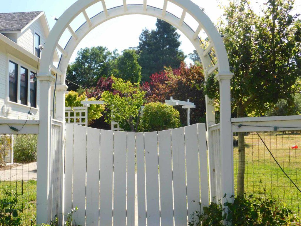 garden gate at heart and soul petaluma outdoor yoga